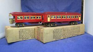 Lionel Prewar O Gauge 1685 1687 Transition Pullman cars! NICE! BOXED! PA