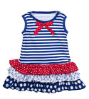 Nautical Red, White Blue Ruffle Dress by Baby Ganz - 9-12 Months