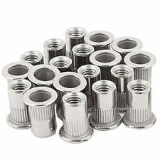 20pcs 38 16 Rivet Nuts Stainless Steel Threaded Insert Nutsert Rivnuts 38 1