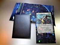 NEW Professional Hologram Card Sleeves Precise Fit for MTG Pokemon 100pack Black