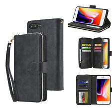 Case For Samsung Models Zip Coin Purse Card slot Flip Leather Wallet Phone Cover