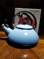 Le Creuset Enamel On Steel 1.6 Qt. Zen Tea Kettle, color Marine