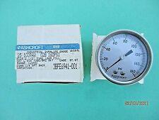 Nos Vintage Ashcroft Pressure Gauge 0 160 Psi