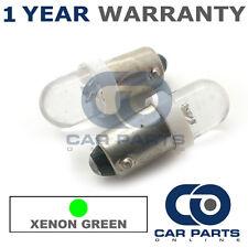 2x XENON VERDE BAX9S H6W 434 LUCI DI POSIZIONE Upgrade TESTATA LAMPADINE LED