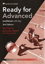 Macmillan READY FOR ADVANCED 3rd Ed WORKBOOK with Key & Audio CD @New 2015 CAE