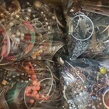 2KG Job Lot Mixed Costume Jewellery Bundle Craft Bead ReSell Upcycle FREE UK P&P