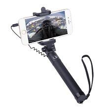Palo para Selfie Con Cable Negro Mini Plegable Monopie Soporte para teléfonos inteligentes Huawei