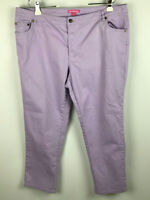 Woman Within Plus Size 20W Lavendar Light Purple Jeans
