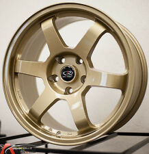 ROTA GRID 17X8 +35 FULL GOLD 5X100 WHEEL FIT TOYOTA CELICA GT COROLLA JDM FR-S