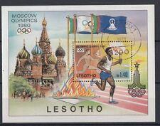 Lesotho   1980 Bf 5 giochi olimpici di Mosca usato