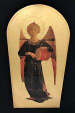 Angel Holding Drum Gold Plaque
