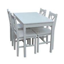 Ensembles de table et chaises de maison blancs pour salle à manger