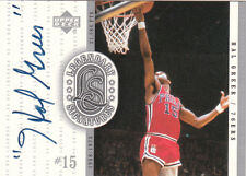 HAL GREER 1999-2000 UD  Legendary Signatures Auto SIXERS Legend