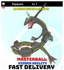 Pokemon Sword Shield ✨ SHINY ✨ 1 LEVEL RAYQUAZA LEGENDARY 6IV FAST DELIVERY