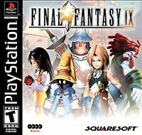 Final Fantasy IX FF 9 PS1 PSX Sony PlayStation 1 2000 Black Label