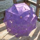Embroidery Lace Cotton Parasol wedding sun umbrella Photo Props Battenburg Brida