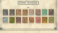 FRANCE GUINEA Yv 1/13 Complete Set - MH - Used - VF