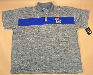 NEW! Profile Varsity Polo Shirt ~ Kansas Jayhawks College Football KU ~ Size 5XL