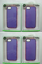 100 x QUALITY BELKIN Grip Candy Sheer Case iPhone 5 iPhone 5s F8W138qeC06 [F07]