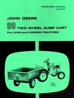 John Deere 80 Dump Cart Garden Tractor Operators Manual