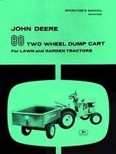 John Deere 80 Dump Cart Garden Tractor Operators Manual