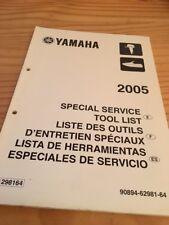 Yamaha moteur hors bord liste outillage tool list revue technique manuel 2005