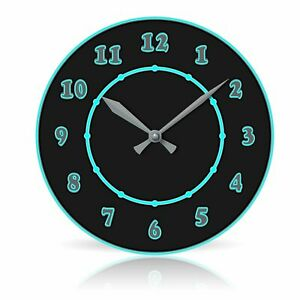 "Electric 10.75"" Round Acrylic Wall Clock"