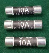 3 x 10 AMP CERAMIC FUSE BS1362 DOMESTIC HOUSEHOLD MAINS PLUG FUSE FREEPOST