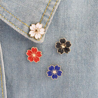 5PCS Enamel Flower Brooch Pin Shirt Collar Pin Corsage Badge Jewelry Gift HF