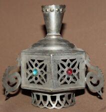 VINTAGE ORNATE METAL ICON LAMP CANDLE HOLDER