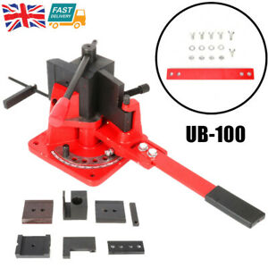Heavy Duty Universal Bar Bender Flat Square Round Angle Steel Bending Machine UK