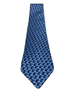 HERMES Paris Blue Purple 100% Silk Equestrian Horse Pattern Men's Tie