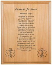 Personalized Engraved //  8x10 //  EMT // Paramedic // Prayer Plaque