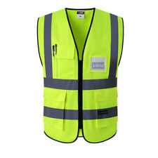Yellow Zipped Hi Vis Safety Vests for the Work Place.