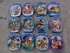 "Disney Winnie The Pooh "" 12 Months "" Collection Bradford Exchange Plates"