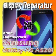 24 St Display Reparatur Samsung Galaxy A5 SM-A520F 2017 Glas Austausch Schwarz