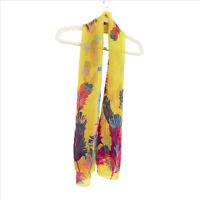 NWT Mountain Mamas Birds of Paradise Scarf Goldfinch 62 x 19 inches