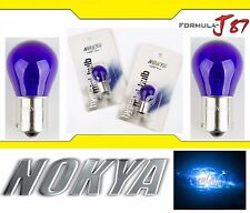 Nokya Light 1156 Blue 21W Nok5281 Two Bulbs Front Turn Signal Replace Show Use