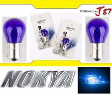 Nokya Light 1156 Blue 21W Nok5281 Two Bulbs Rear Turn Signal Replace Show Use