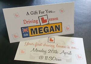 1st DRIVING LESSON LEARN TO DRIVE 17th BIRTHDAY GIFT VOUCHER WALLET NUMBER PLATE