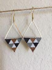 Handmade Beaded Earrings Triangle