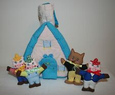 Disney Three Little Pigs Soft Fabric House Play Set Cloth Plush Preschool Wolf