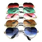 Charming Metal Frame Colorful Sunglasses Heart Shape Eyewear Eyeglasses Goggles