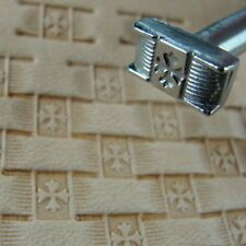 Stainless Steel Craftool Pro - #X2844 Cross Basket Weave Stamp (Leather Tool)