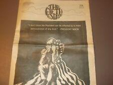 Vintage Underground Tabloid THE FIFTH ESTATE1969NIXON Cover+Anti WAR POSTER RARE