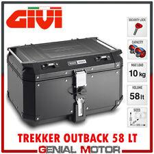 Bauletto + Kit Fix Centrale Givi Trekker Outback 58Lt Nero Bmw R 1250 Gs 2019 >