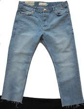 New Mens Blue Slim Crop NEXT Jeans Size 32 Short Leg 24 RRP £38 DEFECT