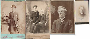 6 x Antique CABINET 1 x CDV PHOTOGRAPHS of WILLIAM CLARKE Various ages & clothes