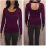 Women's Purple Bling Guess Sweater Open Back Medium