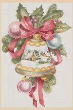 Christmas Cross Stitch Chart-Cloche de Noël Boule à neige no 438.TSG37